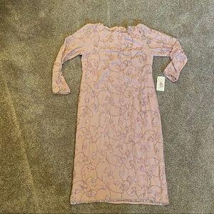 Jack Bryan Vintage Pink Beaded Dress NWT